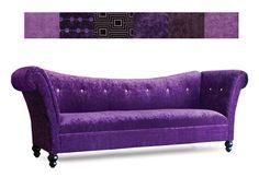 Purple Zenon Sofa