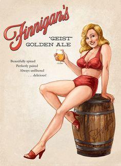 Beer Pinup by bigbigtruck on DeviantArt