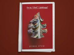 """""""A new 'Chef' for Christmas?"""" If you love magazines. //Ad campaign by Sweet Creatives"""