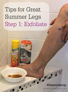 Tips for Getting Great Summer Legs. DIY - Make your own exfoliating scrub. #DIY #Exfoliate #SummerizeYourLegs #Shop #CollectiveBias