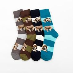 Men's Socks Hss Colorful Cotton Mens Socks Pug Dog Pattern Funny Socks Hip Hop Men Socks Crew For Male Wedding Birthday Party Gifts