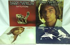 Barry Manilow Lot of 4 #Vinyl Record Albums - S/T II Tryin to Get Feeling For You