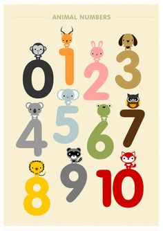 Children decor Alphabet and Number Posters Kids wall by loopzart