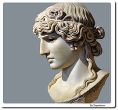 This is Antinous Mondragone the intimate companion of the Roman Emperor Hadrian. This is  an example of Roman sculpture in the second century CE. This piece can be found in the Louvre in Paris.