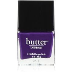 Butter London Nail Lacquer - Bramble ($15) ❤ liked on Polyvore featuring beauty products, nail care, nail polish, nails, makeup, nude nail polish, opaque nail polish, holiday nail polish, butter london nail polish and butter london