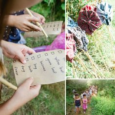 Ideas for an Outdoor Adventure Party: Scavenger Hunt!