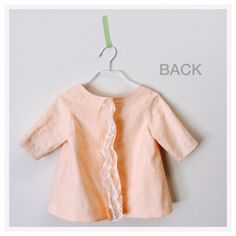Linen Pull-over Brouse, Peach Pink on Etsy, $55.00