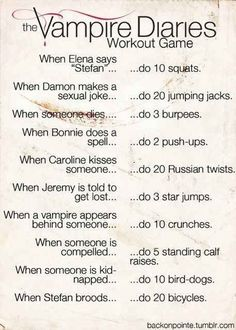 The Vampire Diaries | 20 Fandom-Based Workouts To Get You Up And Moving