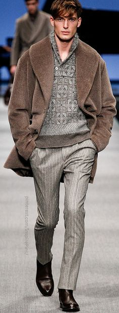 Fall 2014 Menswear Canali Lose the strange coat and we have ourselves a winner. www.designerclothingfans.com