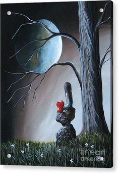 Surreal Art Painting - Surreal Art By Shawna Erback by Shawna Erback Angel Art, Moon Art, Fairy Art, Nocturne, Heart Art, Surreal Art, Whimsical Art, Amazing Art, Fantasy Art