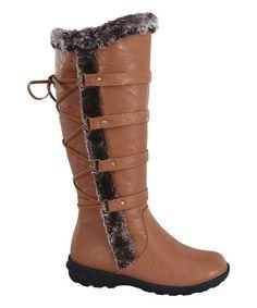 Look what I found on #zulily! Tan Aura Knee-High Boot #zulilyfinds