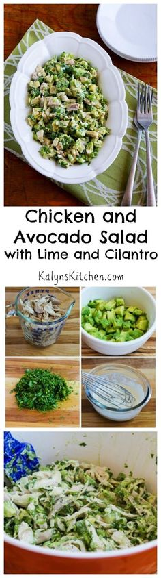 Chicken and Avocado Salad Recipe with Lime and Cilantro (Low-Carb, Gluten-Free, Can Be Paleo) | Kalyn's Kitchen®