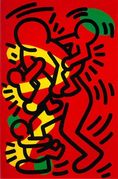 """Keith Haring """"Untitled"""" 1986 oil and acrylic on canvas 36 x 24 inches x 61 cm Keith Allen, James Rosenquist, Bad Painting, Modern Art, Contemporary Art, Keith Haring Art, Street Art, Atelier D Art, Art Walk"""