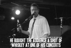 Reasons to love Hugh Laurie — Reason 320: He bought the audience a shot of...
