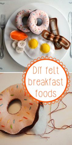 We can't get enough of these DIY felt breakfast foods! Seriously, how cute are these? Look at that bacon!  http://www.ehow.com/slideshow_12326705_diy-felt-breakfast-foods.html?utm_source=pinterest&utm_medium=fanpage&utm_content=slideshow