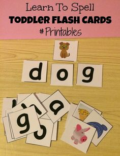 First Time Mom and Losing It: Learn To Spell Toddler Flash Cards #Printable
