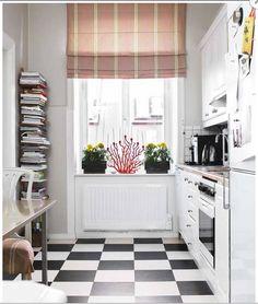 small kitchen - book shelving