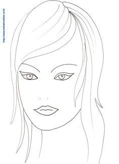 Coloriage visage femme dessin 17                                                                                                                                                      Plus