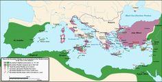 The end of the Mediterranean sea as a roman sea