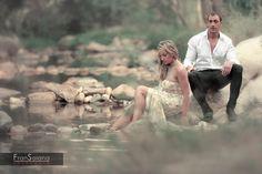 """Trash the dress"" Fotos de novios Post Boda en el rio. Beatriz e Isaac 01"