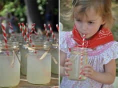 Mason jars & straws - CAKE. | events + design: real parties: red & rustic country farm