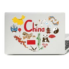 China Illustration Laptop Skin Sticker China, Laptop Stickers, Laptop Skin, Vinyl Decals, Illustration, Illustrations, Porcelain Ceramics, Porcelain