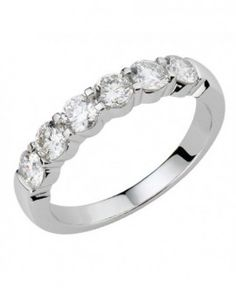 Alliance de mariage en or blanc et diamants demi-tour - L'alliancier