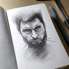 Sketching out Mr. Logan's profile.   https://www.instagram.com/yapip07/
