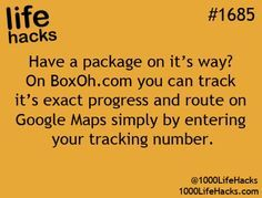 Tracking packages