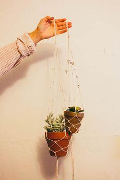 west coast whimsy: diy macrame planters
