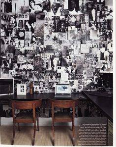 photo wall, love the black and white