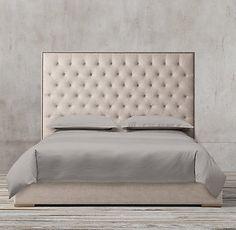 Adler Panel Diamond-tufted Fabric Platform Bed Collection | RH