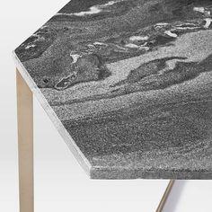 Hex Side Table – Antique Brass | west elm