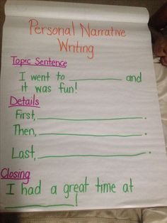 Personal Narrative Writing First Grade Writer's Workshop Anchor Chart for Mi. - Personal Narrative Writing First Grade Writer's Workshop Anchor Chart for Mi… – Using Graphs in addition to Topographical Road directions Personal Narrative Writing, Personal Narratives, Narrative Writing Prompts, Writing Sentences, Informational Writing, Writing Lessons, Writing Skills, Writing Ideas, Writing Process