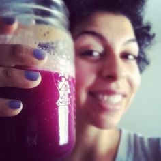 Purple health! (3 apples, 1/2 head of purple cabbage, 1/2 lemon & slice of ginger) #myveganlife,#juicing4health (Taken with instagram)