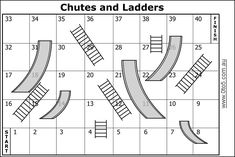chutes and ladders board game template - chutes and ladders fun times pinterest