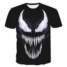 Venom Printed T-shirts Men Casual Shirt Short Sleeve Fitness T Shirt Male Crossfit Tops Weight lifting Base Layer 3d T Shirts, Branded T Shirts, Casual Shirts For Men, Men Casual, Sport Casual, Hoodie Sweatshirts, New Venom, Wolf T-shirt, Venom T Shirt