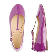Girls' patent leather t-strap ballet flats - flats & moccasins - Girl's shoes - J.Crew