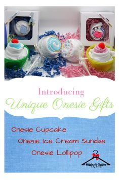 Turn your ordinary onesie into extraordinary gift treats! Babyshower Games For Girls, Baby Shower Cupcakes For Girls, Baby Girl Shower Themes, Girl Baby Shower Decorations, Baby Shower Gifts, Cute Baby Onesies, Cute Baby Clothes, Baby Girl Gifts, Cute Baby Girl