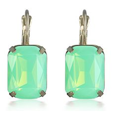 Dorelly - Rhinestone Crystal Antique Gold Dangle Statement Earring