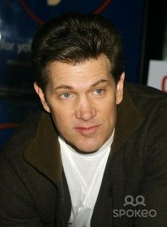 At a signing for Chris Isaak Christmas album