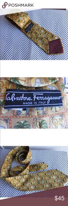 Salvatore Ferragamo men's tie African animals Great print; in great condition Salvatore Ferragamo Accessories Ties