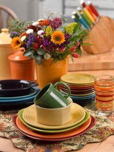Fall Fiesta® Tablescape for One Sunflower Tangerine and Chocolate Fiesta® Dinnerware make the perfect Autumn Place Setting | Table for One | Pinterest ... & Fall Fiesta® Tablescape for One: Sunflower Tangerine and Chocolate ...