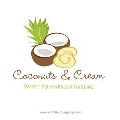 Custom Logo Design, Custom Logos, Typography Design, Branding Design, Coco Oil, Strawberry Fields, Coconut Cream, Logo Inspiration, Biscotti