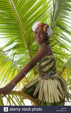 Girl On Tuvalu, Island In The Pacific. (mr Stock Photo, Royalty Free Image: 39854859 - Alamy