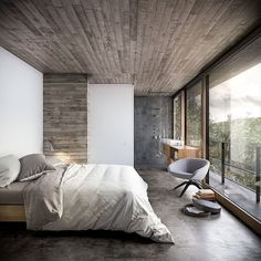 House in Nature by Design Raum #homeadore #bedroom #interior #interiors #interiordesign #interiordesigns #residence #home #casa #property #villa #maison #designraum by homeadore