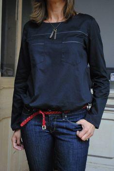 blouse manches longues façon chemise d'homme...(a possible Sorbetto variation)