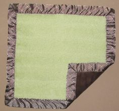 Koala Baby Green Brown Furry Diamond Dash Satin Security Blanket Lovey Square #KoalaBaby