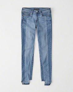 Womens Step Hem Super Skinny Jeans | Womens Clearance | Abercrombie.com