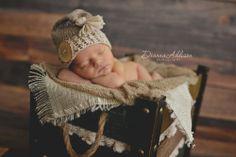 Newborn Boy Photography Props | Image of Newborn cap - 5 colors - boy hat - girl hat - photo prop